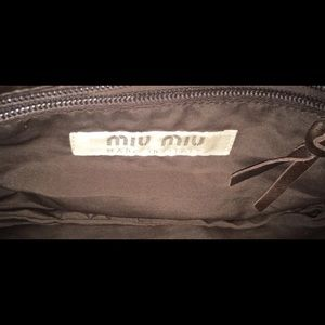 Miu Miu Bags - ⚡️MIU MIU Clutch/Wristlet soft brown leather⚡️